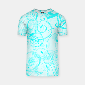 Thumbnail image of floral ornaments pattern chi T-shirt, Live Heroes