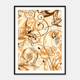 Thumbnail image of floral ornaments pattern c82i Framed poster, Live Heroes