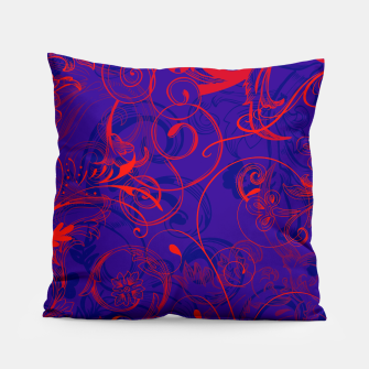Thumbnail image of floral ornaments pattern dpt Pillow, Live Heroes