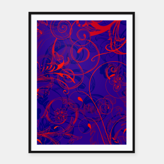 Thumbnail image of floral ornaments pattern dpt Framed poster, Live Heroes
