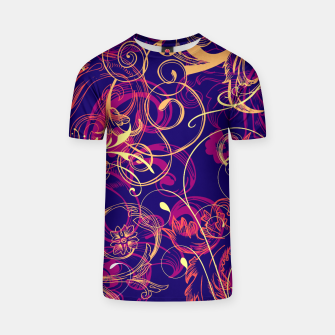 Thumbnail image of floral ornaments pattern cbry T-shirt, Live Heroes