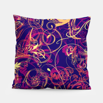 Thumbnail image of floral ornaments pattern cbry Pillow, Live Heroes