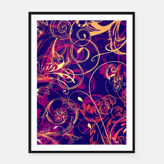 Thumbnail image of floral ornaments pattern cbry Framed poster, Live Heroes