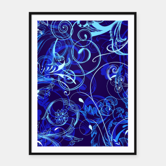 Thumbnail image of floral ornaments pattern cpt Framed poster, Live Heroes