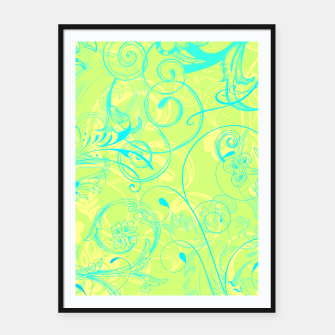 Thumbnail image of floral ornaments pattern dpti Framed poster, Live Heroes