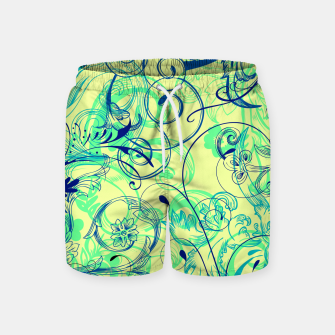Thumbnail image of floral ornaments pattern cbryi Swim Shorts, Live Heroes