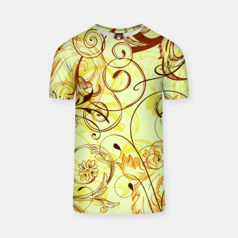 Thumbnail image of floral ornaments pattern cpti T-shirt, Live Heroes