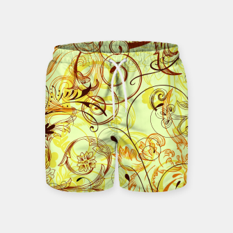 Thumbnail image of floral ornaments pattern cpti Swim Shorts, Live Heroes