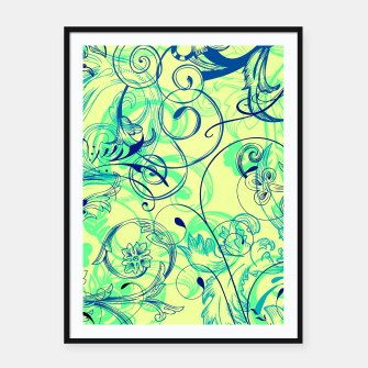 Thumbnail image of floral ornaments pattern cbryi Framed poster, Live Heroes