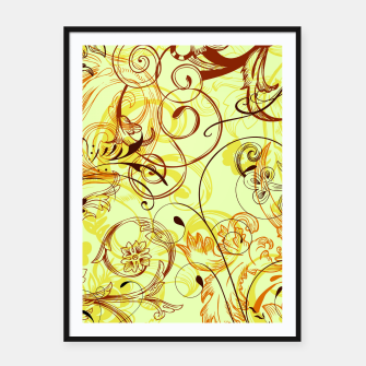 Thumbnail image of floral ornaments pattern cpti Framed poster, Live Heroes
