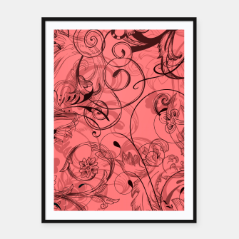 Thumbnail image of floral ornaments pattern dpw Framed poster, Live Heroes