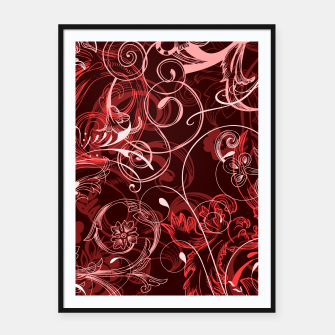 Thumbnail image of floral ornaments pattern cch Framed poster, Live Heroes