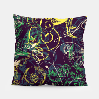 Thumbnail image of floral ornaments pattern cvgo Pillow, Live Heroes