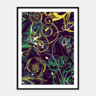 Thumbnail image of floral ornaments pattern cvgo Framed poster, Live Heroes