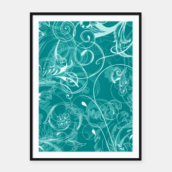 Thumbnail image of floral ornaments pattern dpwi Framed poster, Live Heroes