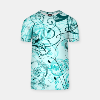 Thumbnail image of floral ornaments pattern cchi T-shirt, Live Heroes