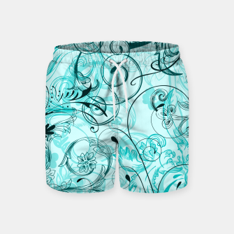 Thumbnail image of floral ornaments pattern cchi Swim Shorts, Live Heroes