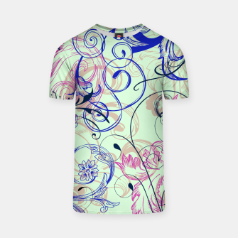 Thumbnail image of floral ornaments pattern cvgoi T-shirt, Live Heroes