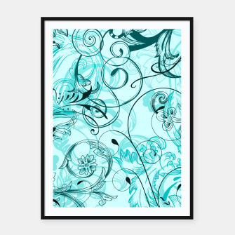 Thumbnail image of floral ornaments pattern cchi Framed poster, Live Heroes