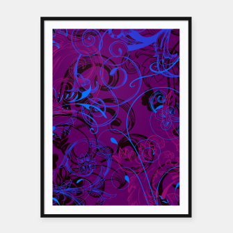 Thumbnail image of floral ornaments pattern dvgo Framed poster, Live Heroes