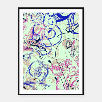 Thumbnail image of floral ornaments pattern cvgoi Framed poster, Live Heroes