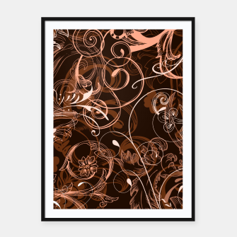 Thumbnail image of floral ornaments pattern cco Framed poster, Live Heroes