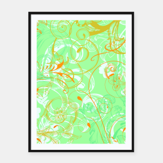 Thumbnail image of floral ornaments pattern dvgoi Framed poster, Live Heroes