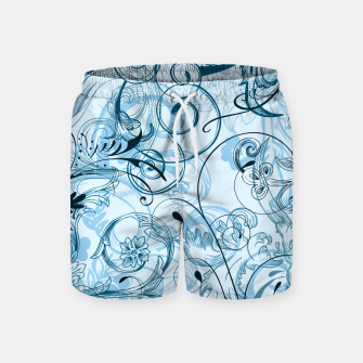 Thumbnail image of floral ornaments pattern ccoi Swim Shorts, Live Heroes