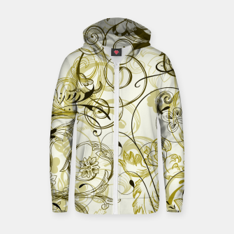 Thumbnail image of floral ornaments pattern dbi Zip up hoodie, Live Heroes