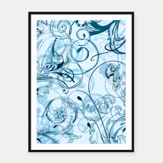 Thumbnail image of floral ornaments pattern ccoi Framed poster, Live Heroes
