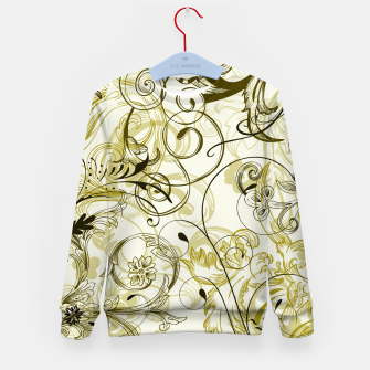 Thumbnail image of floral ornaments pattern dbi Kid's sweater, Live Heroes