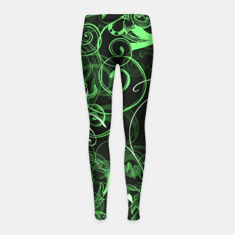 Thumbnail image of floral ornaments pattern de Girl's leggings, Live Heroes