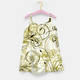 Thumbnail image of floral ornaments pattern dbi Girl's dress, Live Heroes