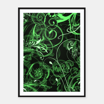 Thumbnail image of floral ornaments pattern de Framed poster, Live Heroes