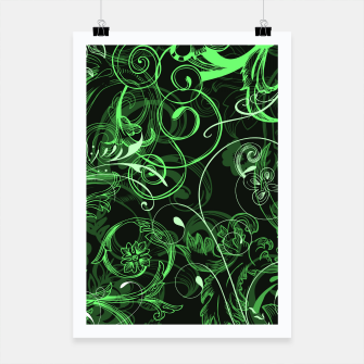 Thumbnail image of floral ornaments pattern de Poster, Live Heroes