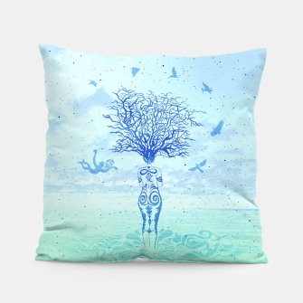 Thumbnail image of Stargazing in Winter by #Bizzartino Pillow, Live Heroes
