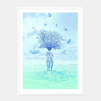 Thumbnail image of Stargazing in Winter by #Bizzartino Framed poster, Live Heroes