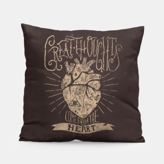 Miniaturka Great Thoughts Pillow, Live Heroes