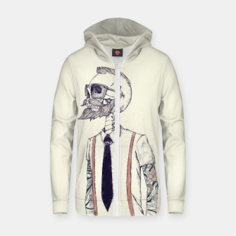 Thumbnail image of The Gentleman becomes a Hipster Zip up hoodie, Live Heroes