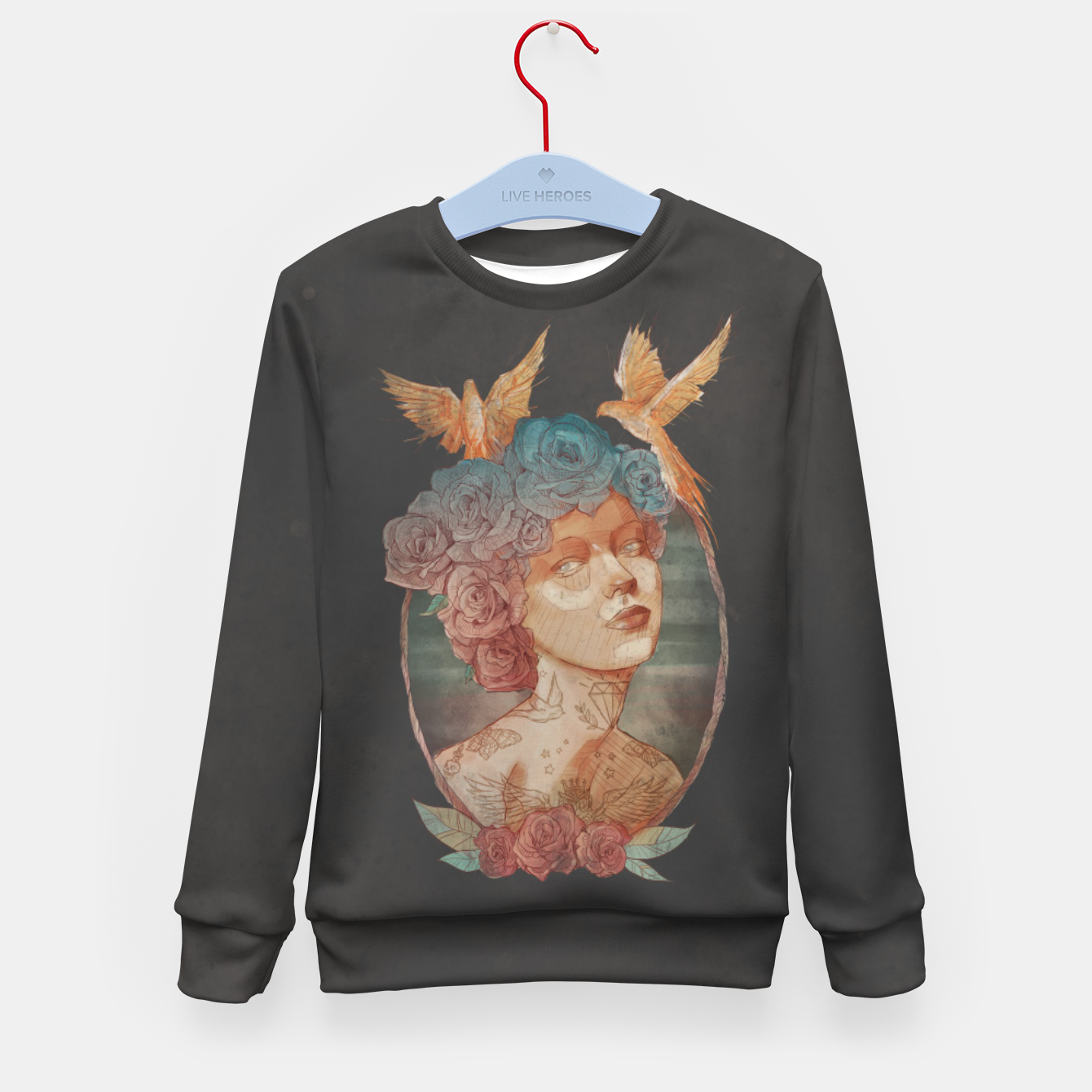 Image of Lady Kid's sweater - Live Heroes