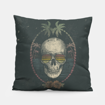 Thumbnail image of Palm Skull Pillow, Live Heroes