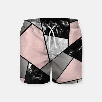 Miniatur Black White Silver Blush Geometric Glam #1 #geo #decor #art Badeshorts, Live Heroes
