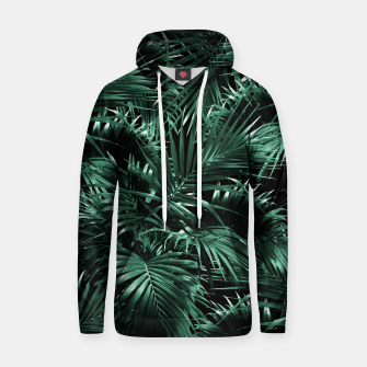 Thumbnail image of Tropical Palm Leaf Jungle Night #1 #tropical #decor #art Kapuzenpullover, Live Heroes