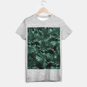 Thumbnail image of Tropical Palm Leaf Jungle Night #1 #tropical #decor #art T-Shirt regulär, Live Heroes