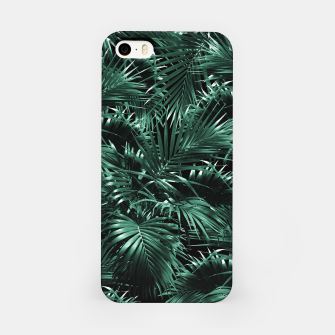 Thumbnail image of Tropical Palm Leaf Jungle Night #1 #tropical #decor #art iPhone-Hülle, Live Heroes