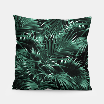 Thumbnail image of Tropical Palm Leaf Jungle Night #1 #tropical #decor #art Kissen, Live Heroes