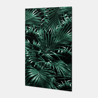 Thumbnail image of Tropical Palm Leaf Jungle Night #1 #tropical #decor #art Canvas, Live Heroes