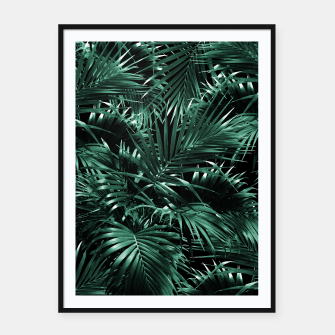 Thumbnail image of Tropical Palm Leaf Jungle Night #1 #tropical #decor #art Plakat mit rahmen, Live Heroes