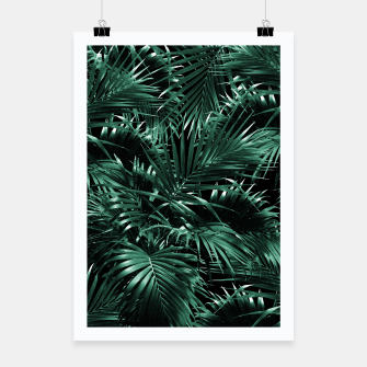 Thumbnail image of Tropical Palm Leaf Jungle Night #1 #tropical #decor #art Plakat, Live Heroes