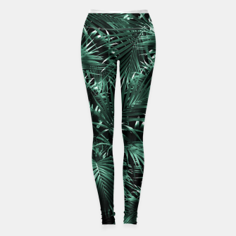 Thumbnail image of Tropical Palm Leaf Jungle Night #1 #tropical #decor #art Leggings, Live Heroes